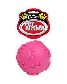 PET NOVA DOG LIFE STYLE Ball Jucarie cu sunet, roz, aroma de menta, 6cm