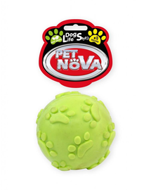 PET NOVA DOG LIFE STYLE Minge cu sunet pentru caini, galben, aroma de menta, 6cm