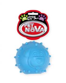 PET NOVA DOG LIFE STYLE Jucarie peste fierastrau pentru caini, aroma de menta, albastru, 6,5cm