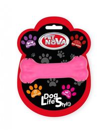 PET NOVA DOG LIFE STYLE Jucarie os pentru caini, 11cm, roz, aroma carne de vita