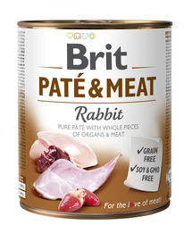 BRIT Pate & Meat Rabbit, cu iepure 800 g