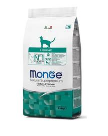 MONGE Cat Hairball hrană uscată pentru eliminarea ghemotoacelor de păr 400 g