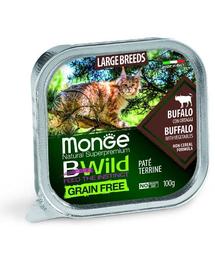 MONGE BWild Cat hrană umedă pentru pisici de talie mare, cu bivol 100g