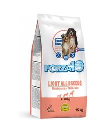 FORZA 10 Maintenance Light Hrană uscată pentru câini cu ton și orez 15 kg