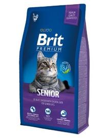 BRIT Premium Cat Senior Hrana uscata pentru pisci adulte 8 kg