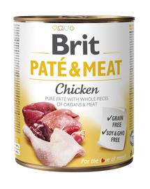 BRIT Pate & Meat Chicken, cu pui 800 g