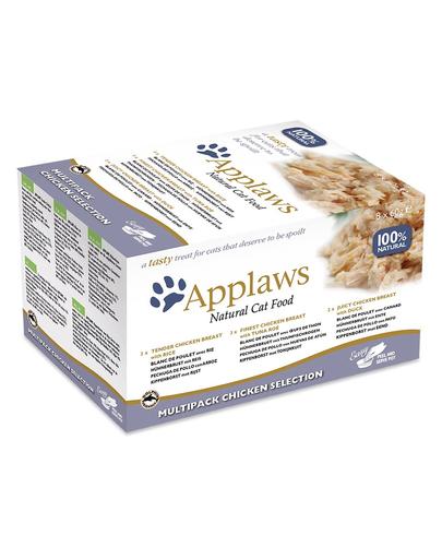 APPLAWS Cat Pot Multipack Chicken Selection hrana umeda pentru pisici 32 x 60 g