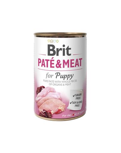 BRIT Pate & meat Puppy chicken & turkey 400g