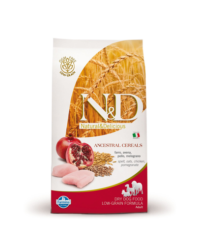 FARMINA N&D Dog Low-Grain cu pui și rodie 2.5 kg