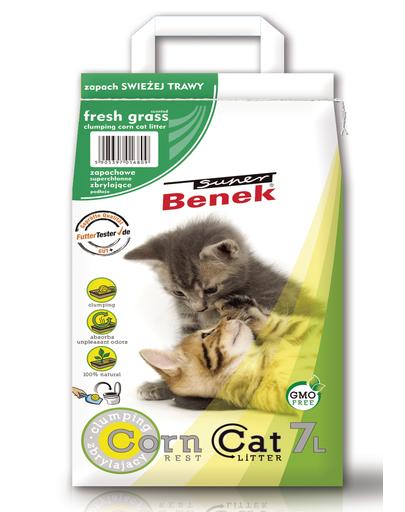 BENEK Super corn cat iarbă proaspătă 7 L fera.ro