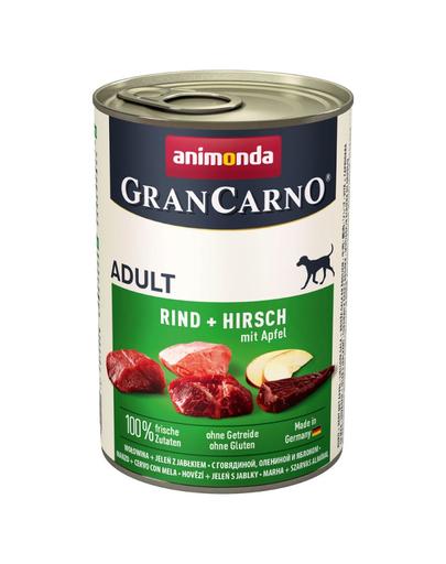 ANIMONDA Grancarno Adult carne de vită, cerb și măr 400 gr