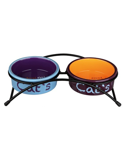 "TRIXIE Set boluri ceramice ""Eat on Feet"" 0.3 L fera.ro"