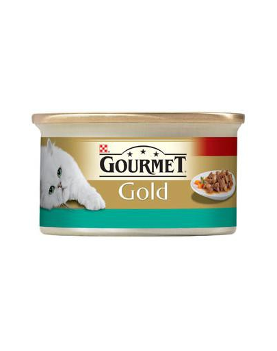 Gourmet Gold somon și pui în sos 85 g