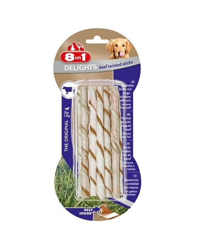 8IN1 Recompensă Delights Beef Twisted Sticks 10 buc.