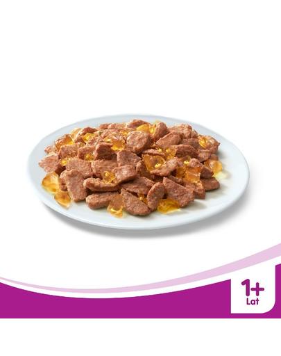 WHISKAS Hrană umedă cu pui în aspic 24 x 100 g