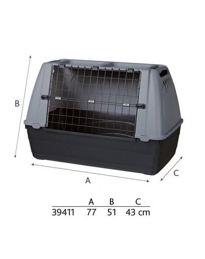 TRIXIE Journey, cusca pentru transport caini sau pisici, dimensiunea S, 77x51x43 cm fera.ro