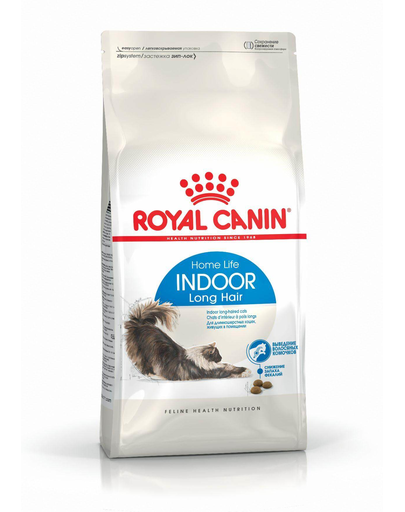 ROYAL CANIN Indoor Long Hair hrana uscata pisici adulte de interior, cu blana lunga 10 kg