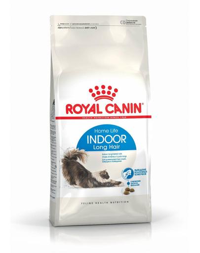 ROYAL CANIN Indoor Long Hair hrana uscata pisici adulte de interior, cu blana lunga 2 kg fera.ro