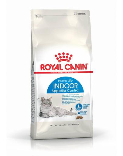 ROYAL CANIN Indoor Appetite Control hrană uscată pentru pisici adulte care stau doar în interior 400 g