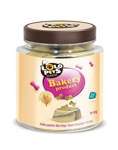 LOLO PETS Cookies cu tărâțe pentru câini - cotlete cu grâu 270 g