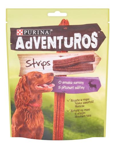 PURINA Adventuros Strips Recompense pentru caini 90g