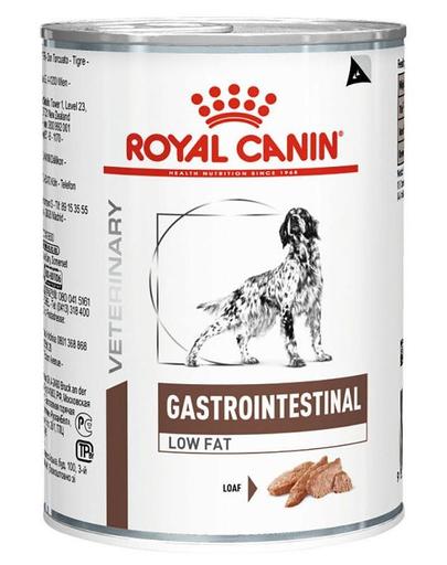 ROYAL CANIN Gastro Intestinal Low Fat hrana umeda cu continut redus de grasimi pentru caini cu tulburari gastro-intestinale 410 g