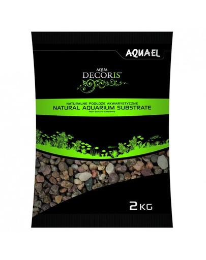 AQUAEL Pietriș natural multicolor 5-10 mm 2 kg