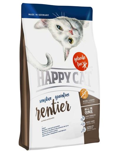 HAPPY CAT Sensitive Grainfree Ren, Vită și Cartofi 4 kg