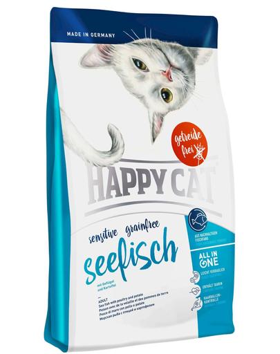 HAPPY CAT Sensitive Grainfree pește sea 4 kg