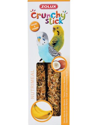 ZOLUX Crunchy Stick pentru papagali mici - cocos / banane 85 g