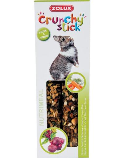 ZOLUX Crunchy Stick pentru iepure – morcov / sfeclă 115 g