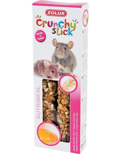 ZOLUX Crunchy Stick pentru șobolani și șoareci - ovăz / ou 115 g fera.ro