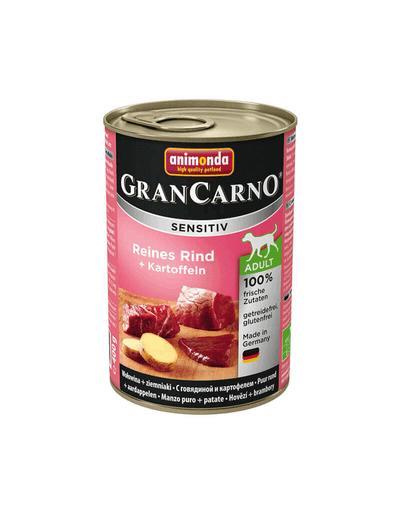 ANIMONDA Grancarno Sensitive Hrana umeda cu carne de vita si cartofi pentru cainii adulti 800 g
