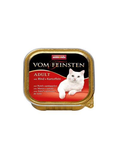 ANIMONDA Vom Feinsten Meniu Hrana umeda cu vita si cartofi pentru pisici adulte 100 g
