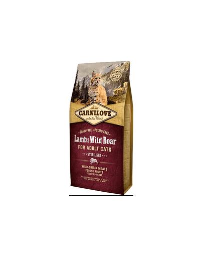 CARNILOVE Cat Grain Free Lamb&Wild Boar Adult Sterilised 2 kg
