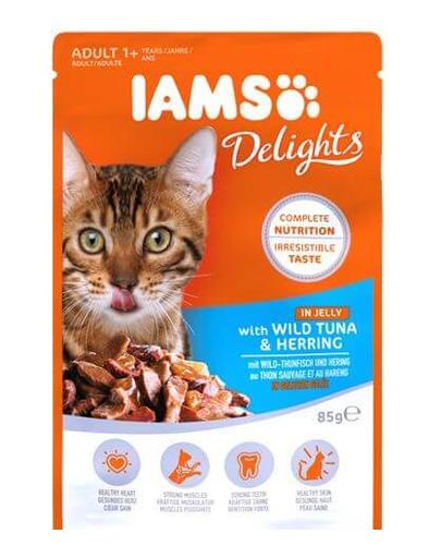 IAMS Cat Adult All Breeds Tuna & Herring In Jelly 85 g