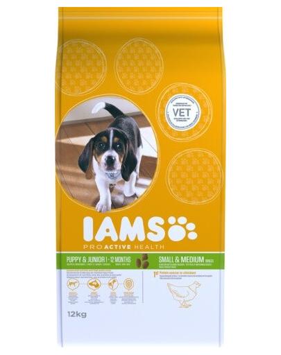 IAMS ProActive Health Puppy & Junior Small & Medium Breed Chicken 12 kg