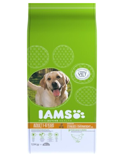 IAMS ProActive Health Adult Light in Fat for Sterilsed/Overweight dogs Chicken 3 kg