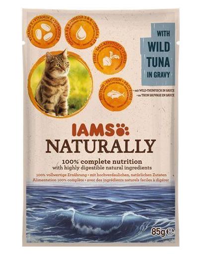 IAMS Naturally Adult cu Ton Sălbatic în Sos 85 g