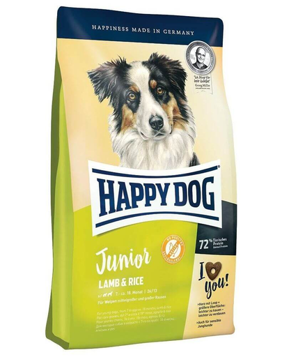 HAPPY DOG Junior miel și orez 4kg