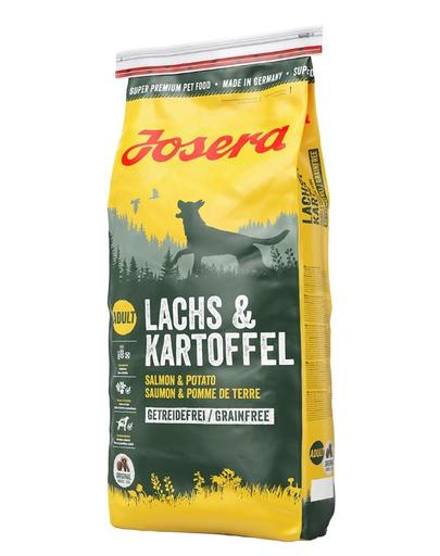 JOSERA Lachs & Kartoffel hrana fara cereale pentru caini adulti, cu somon si cartofi 15 kg