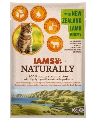 IAMS Naturally Adult cu Miel din Noua Zeelandă, în Sos 85 g
