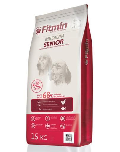 FITMIN Medium Senior hrana uscata caini seniori de talie medie 15 kg