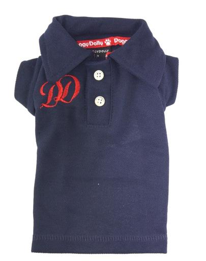 DOGGY DOLLY Tricou polo DD, albastru-închis, XL 33-35 cm/51-53 cm