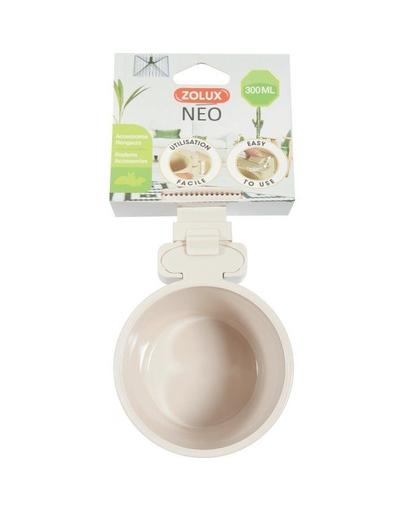 ZOLUX NEO Bol din plastic pentru agatat la cusca, 12 cm, 500 ml