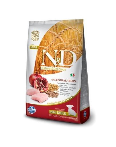 FARMINA N&D Mini Puppy Low Grain Chicken&Pomegranate hrana uscata caini juniori talie mica, pui si rodie 7 kg