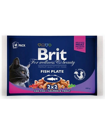 BRIT Cat Adult Fish Plate 4x100 g