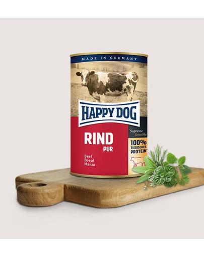 HAPPY DOG Rind Pur cu vită 200 g