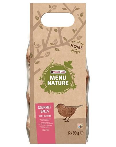 VERSELE-LAGA Gourmet Balls- Bile de hrană pentru păsări sălbatice, cu fructe de pădure 6 buc. 540 g fera.ro