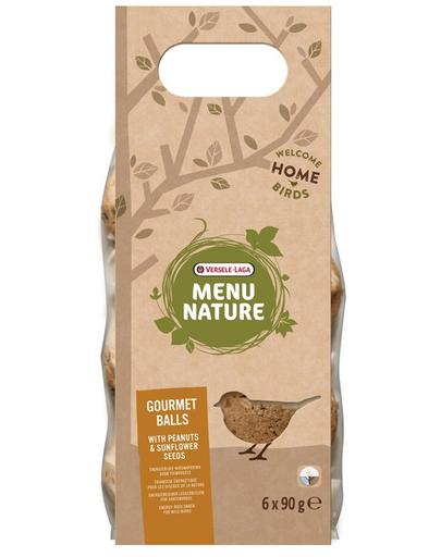 VERSELE-LAGA Gourmet Balls- Bile de hrană pentru păsări sălbatice, cu arahide și semințe de floarea soarelui 6 buc. 540 g fera.ro